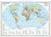 Stiefel Wandkarte Kleinformat Staaten der Erde, Wandkarte, mit Metallstäben