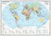Stiefel Wandkarte Kleinformat Staaten der Erde, Wandkarte, ohne Metallstäbe