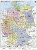 Stiefel Wandkarte Kleinformat Deutschland, politisch, ohne Metallstäbe