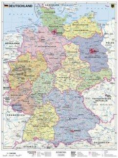 Stiefel Wandkarte Kleinformat Deutschland, poli...