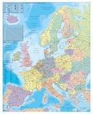 Stiefel Wandkarte Großformat Europa, Organisationskarte, mit Metallstäben