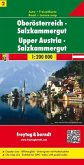 Freytag & Berndt Auto + Freizeitkarte Oberösterreich, Salzkammergut; Alta Austria, Salzkammergut / Opper Oostenrijk, Sal