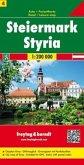 Freytag & Berndt Autokarte Steiermark; Estiria; Stiermarken. Styria. Styrie. Stiria
