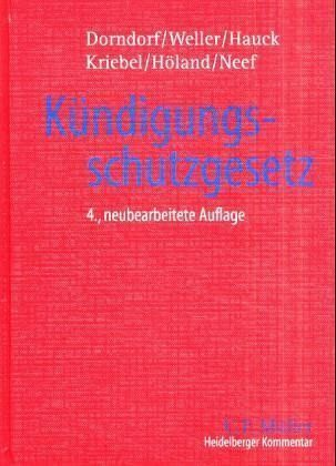 Heidelberger Kommentar Zum Kündigungsschutzgesetz Kschg Von