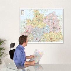 Bacher Postleitzahlenkarte Deutschland Nord, Po...