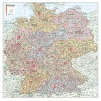 Deutschland - Bacher Postleitzahlenkarte