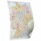 Deutschland - Bacher Postleitzahlenkarte (Posterkarte beschichtet)