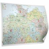 Bacher Organisations-Karte Deutschland Nord, Posterlandkarte, beschichtet