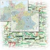 BACHER Organisations-Karte Gesamtdeutschland Maßstab 1:500000, Papierkarte gerollt