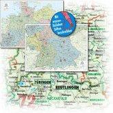 BACHER Organisations-Karte Gesamtdeutschland 1:500 000, Papierkarte gerollt, folienbeschichtet