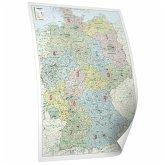 BACHER ORGA-Karte Deutschland, Maßstab 1:700 000, Papierkarte gerollt, folienbeschichtet