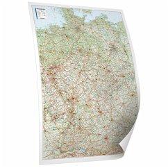 Bacher Straßenkarte Deutschland, Posterkarte