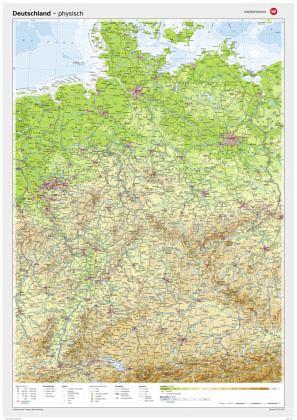 westermann deutschland physisch posterkarte landkarten portofrei bei b. Black Bedroom Furniture Sets. Home Design Ideas