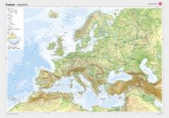 Westermann Europa, physisch, Posterkarte