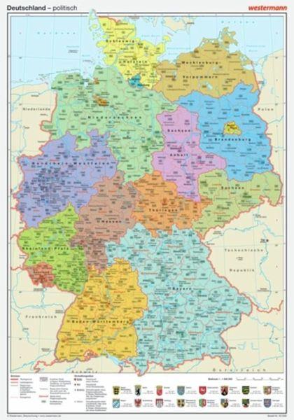 Westermann Deutschland Politisch Posterkarte Landkarten
