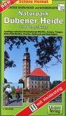 Große Radwander- und Wanderkarte Naturpark Dübener Heide und Umgebung