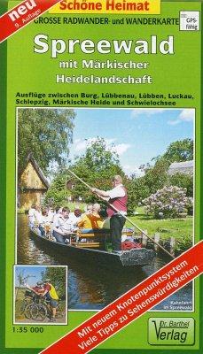 Doktor Barthel Karte Spreewald mit Märkischer Heidelandschaft - Verlag Dr. Barthel