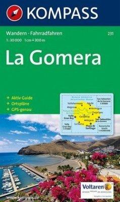 Kompass Karte La Gomera
