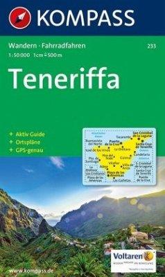 Kompass Karte Teneriffa