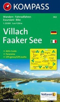 Kompass Karte Villach, Faaker See