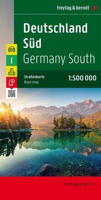 Freytag & Berndt Autokarte Deutschland Süd; Sou...
