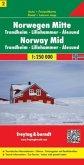 Freytag & Berndt Autokarte Norwegen Mitte; Midt Norge; Midden Noorwegen; Norway Mid; Norvège Centrale; Norvegia Centrale