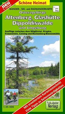 Doktor Barthel Karte Osterzgebirge, Altenberg, Glashütte, Dippoldiswalde und Umgebung