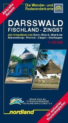 Darsswald - Fischland - Zingst 2017-2019 1:30 000. Rad- und Wanderkarte. - Hellwich, Klaus