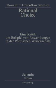 Rational Choice - Green, Donald P.;Shapiro, Ian