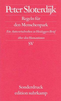 Regeln für den Menschenpark - Sloterdijk, Peter