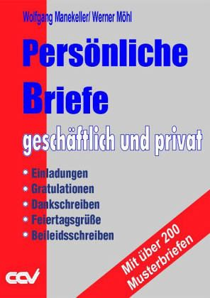 Persönliche Briefe Geschäftlich Und Privat Von Wolfgang Manekeller