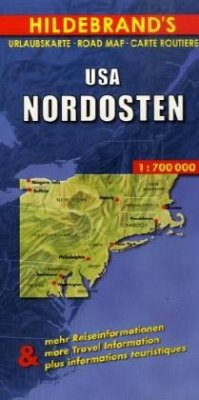 Hildebrand´s Urlaubskarte USA Nordosten; USA Northeast; Etats-Unis Nord-Est