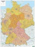 Freytag & Berndt Poster Deutschland, Postleitzahlen, mit Metallstäben; Germany, Post Codes