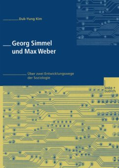 Georg Simmel und Max Weber - Kim, Duk-Yung