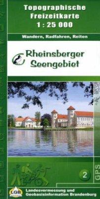 Topographische Freizeitkarte Brandenburg Rheins...