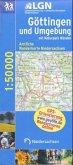 Topographische Karte Niedersachsen Göttingen und Umgebung mit Naturpark Münden