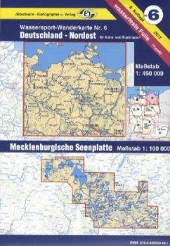 Jübermann Wassersport-Wanderkarte Deutschland Nordost; Mecklenburgische Seenplatte