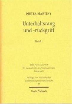 Unterhaltsrang und -rückgriff I/II - Martiny, Dieter