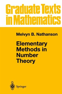 Elementary Methods in Number Theory - Nathanson, Melvyn B.