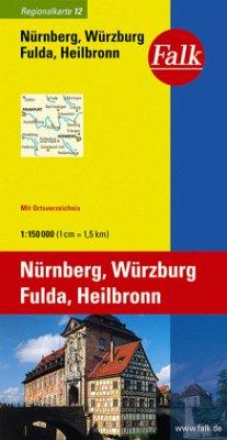 Falk Plan Nürnberg, Würzburg, Fulda, Heilbronn