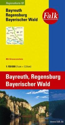 Falk Plan Bayreuth, Regensburg, Bayerischer Wald