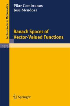 Banach Spaces of Vector-Valued Functions - Cembranos, Pilar; Mendoza, Jose