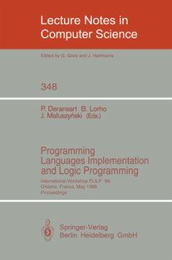 Programming Languages Implementation and Logic Programming - Deransart, Pierre / Lorho, Bernard / Maluszynski, Jan (eds.)