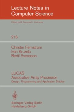 LUCAS Associative Array Processor - Fernstrom, Christer; Kruzela, Ivan; Svensson, Bertil