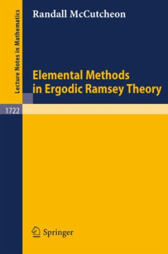 Elemental Methods in Ergodic Ramsey Theory - McCutcheon, Randall