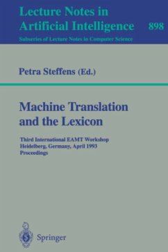 Machine Translation and the Lexicon