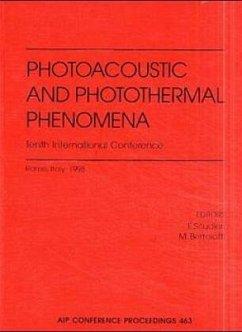 Photoacoustic and Photothermal Phenomena: 10th International Conference: Rome, Italy, August 23-27, 1998 - Scudieri, F.; Bertolotti, M.; Bertolotti, Mario