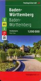 Freytag & Berndt Autokarte Baden-Württemberg; Baden-Wurttemberg; Bade-Wurtemberg; Baden-Vurtembergo