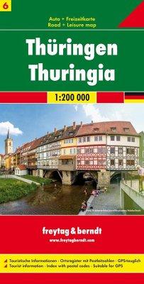 Freytag & Berndt Autokarte Thüringen; Thuringia / Thuringe / Turingia