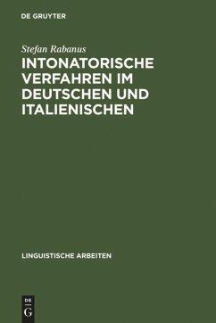 Intonatorische Verfahren im Deutschen und Italienischen